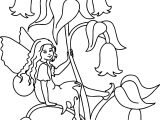 Little Girl Cartoon Funny Coloring Page