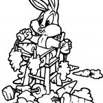 Looney Tunes Bugs Bunny Hungry Coloring Page
