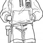 Manga Boy Standing Coloring Page