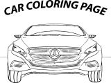 Mercedes Coloring Page