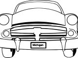 Michigan Car Coloring Page