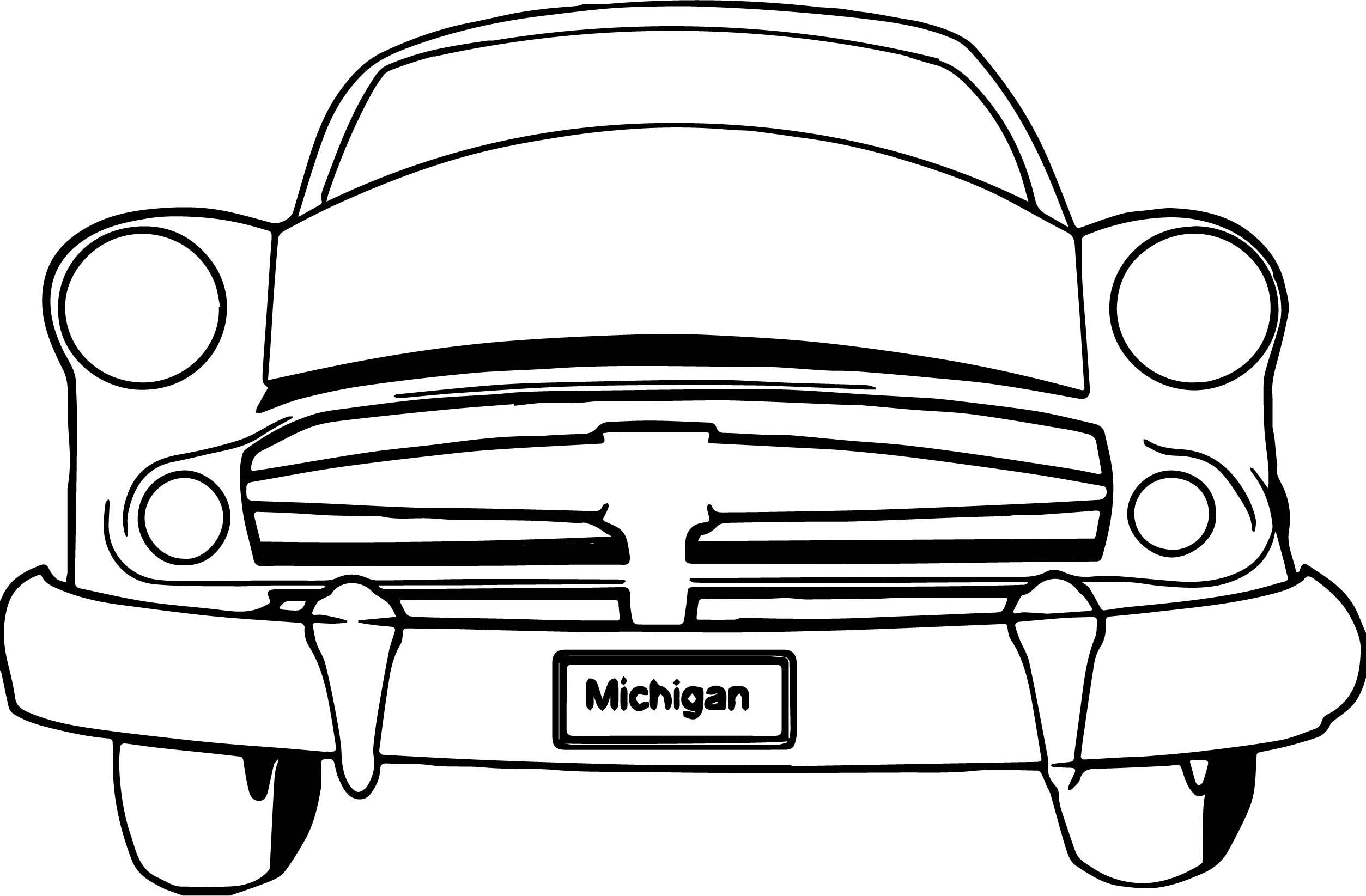 Michigan Car Coloring Page