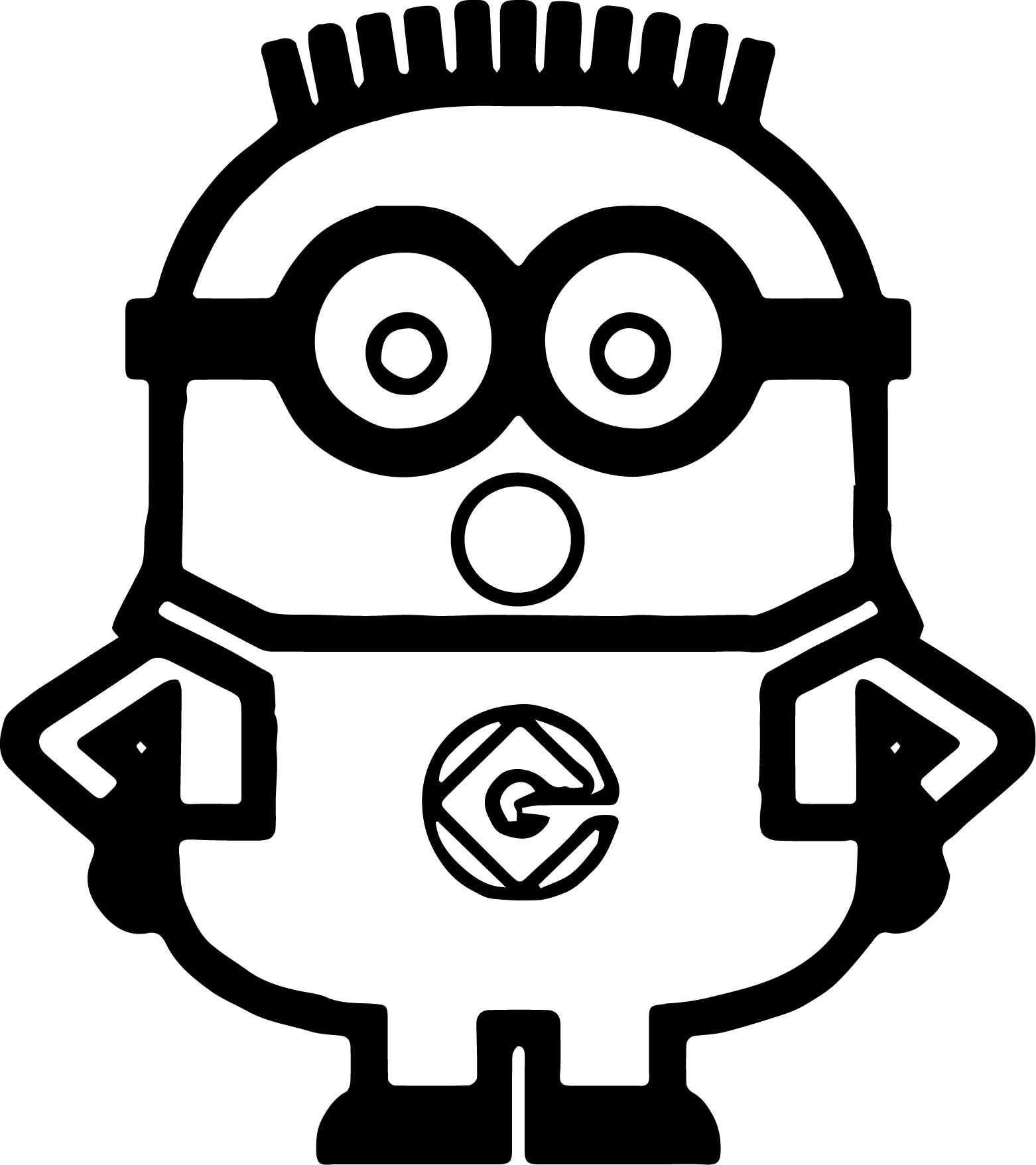 Minions Be Suprised Coloring Page