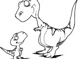 Mom Dinosaur And Child Dinosaur Coloring Page