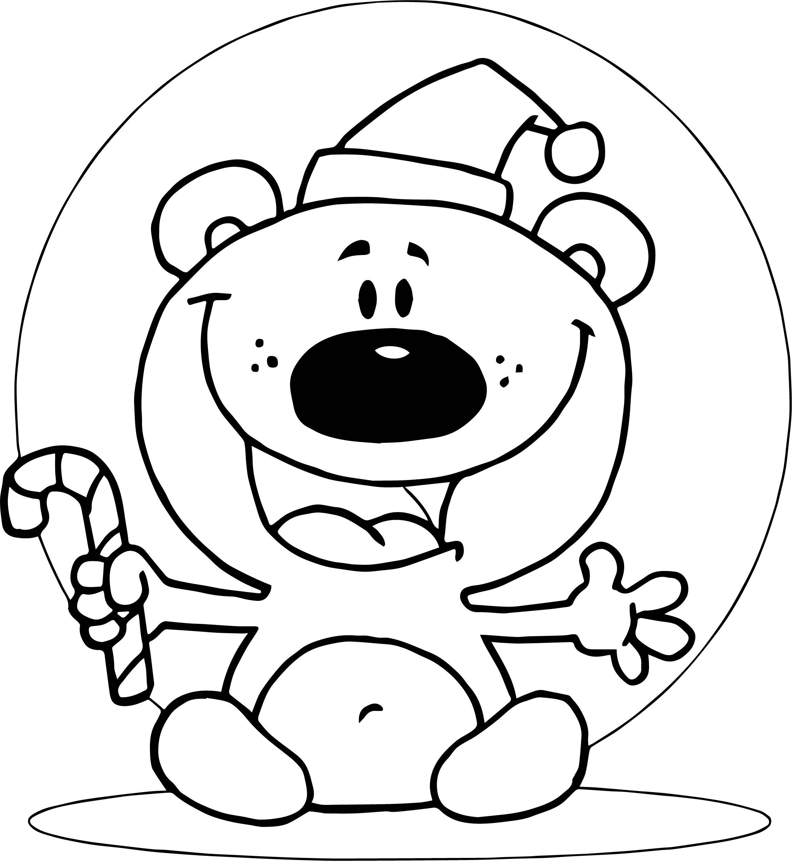 Moon Bear Cartoon Coloring Page