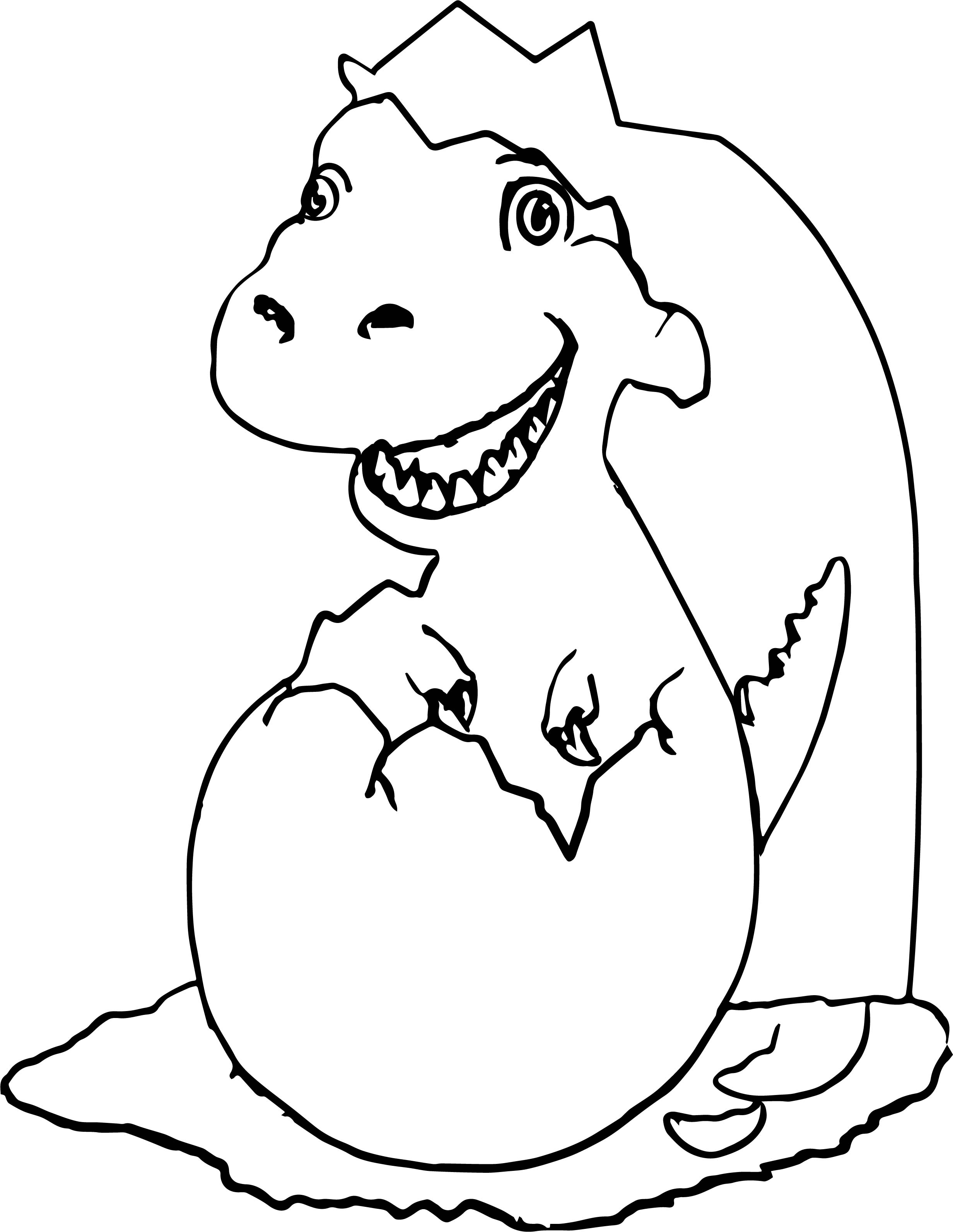 New Baby Dinosaur Coloring Pages