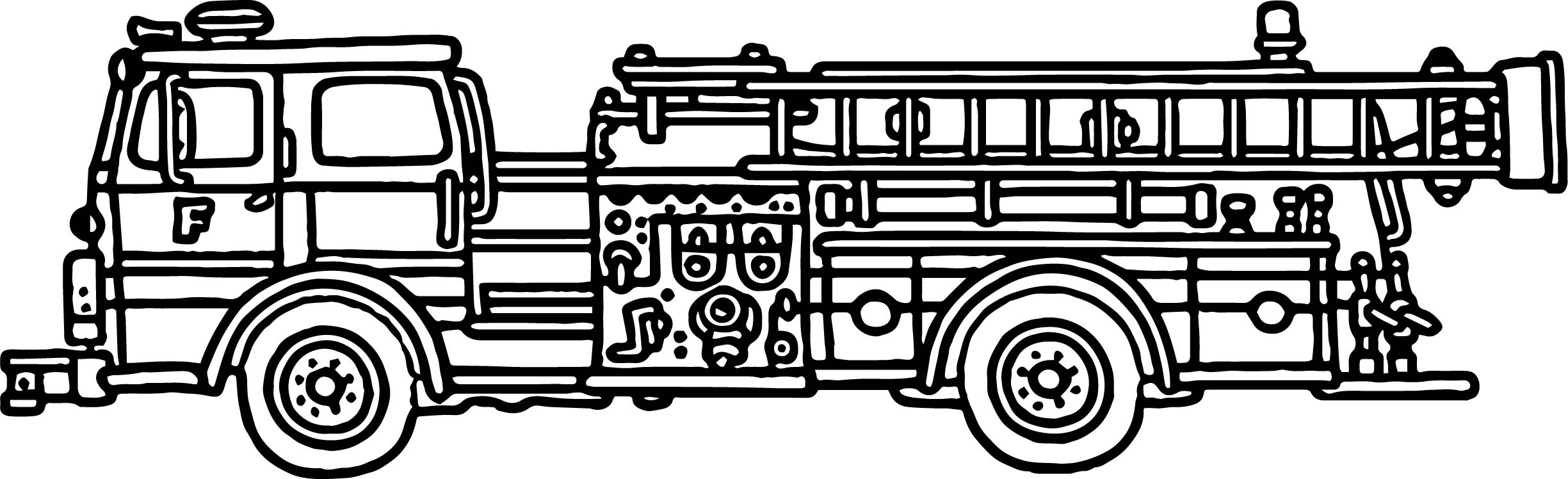 New Fire Truck Coloring Page
