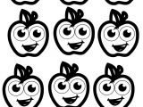 Nine Apple Coloring Pages