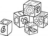 Number Box School Children Coloring Page