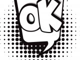 Ok Speech Bubble Coloring Page
