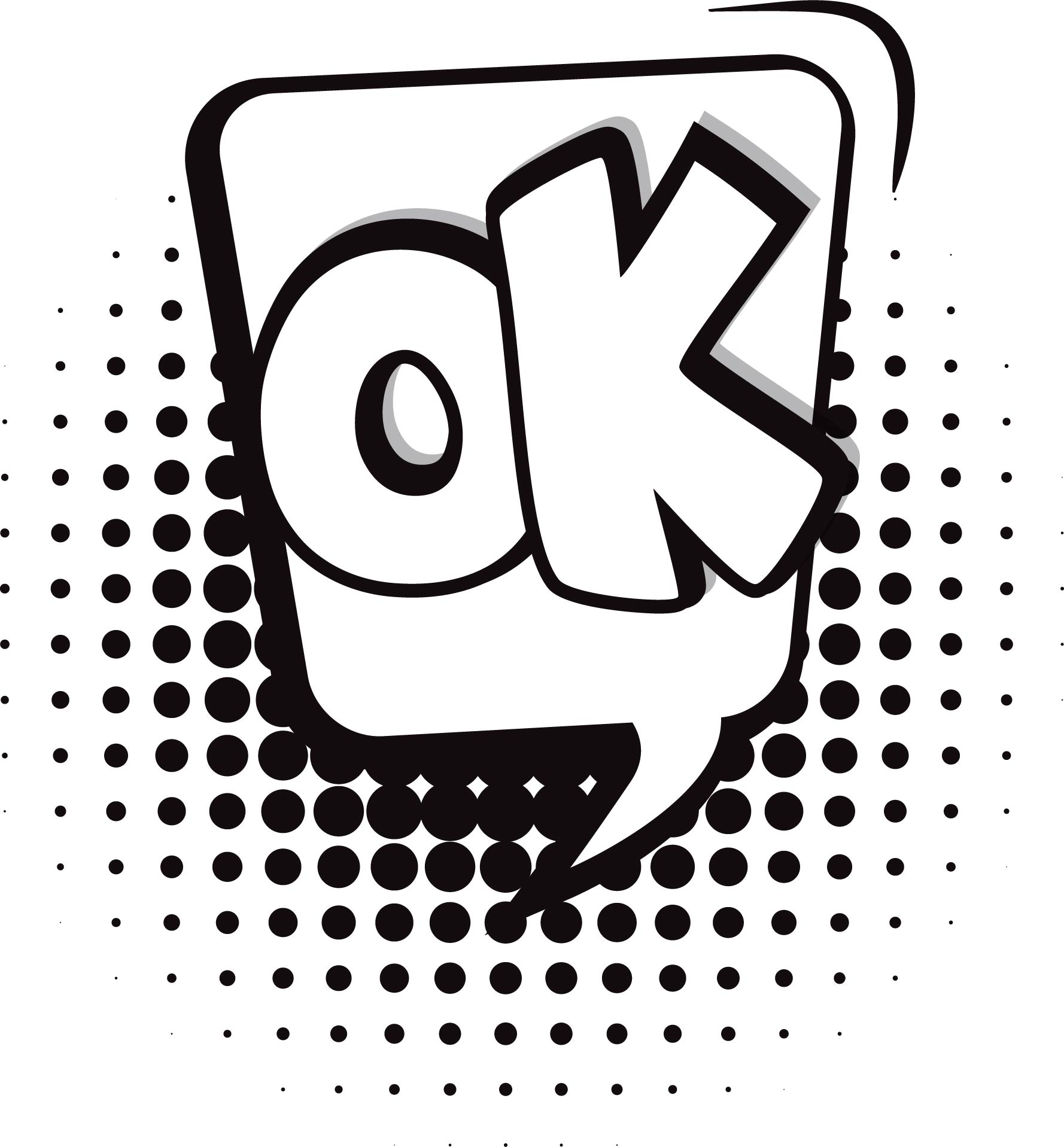 Ok Speech Bubble Coloring Page