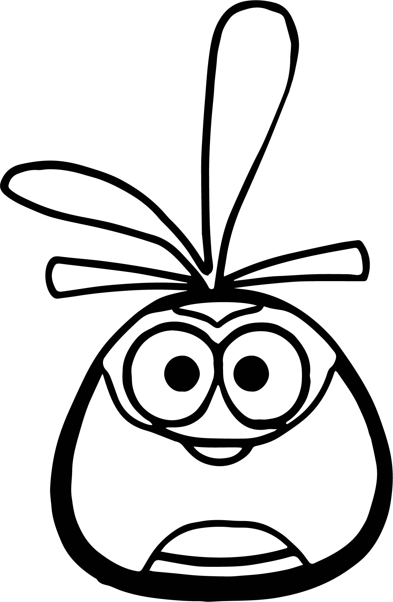 Orange Bird Four Feather Coloring Page