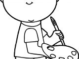 Painter Boy Coloring Page