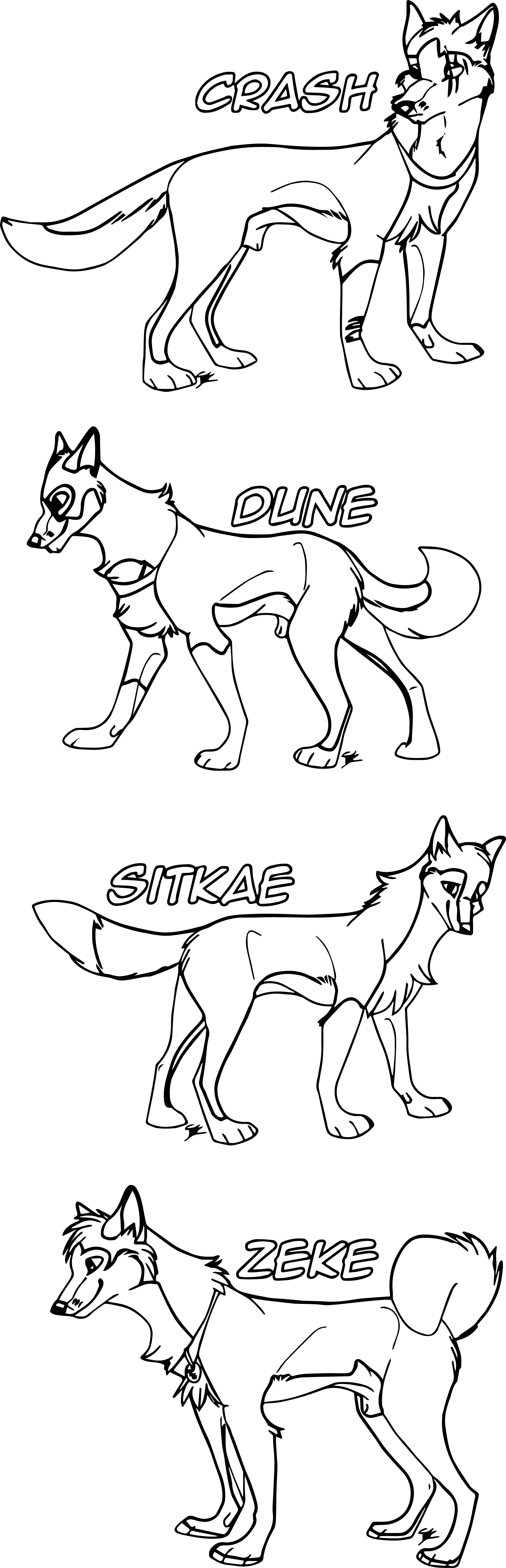 Pc Balto And Jenna Pups Wolf Coloring Page