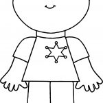 Police Boy Coloring Page