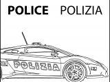 Polizia Police Coloring Page