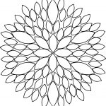 Pretty Flowers Clipart Freebie Coloring Page