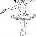 Princess Ballerina Coloring Page