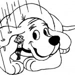Rain Clifford the Big Red Dog Coloring Page