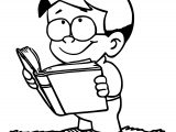 Read Book Boy Coloring Page Sheet Printable