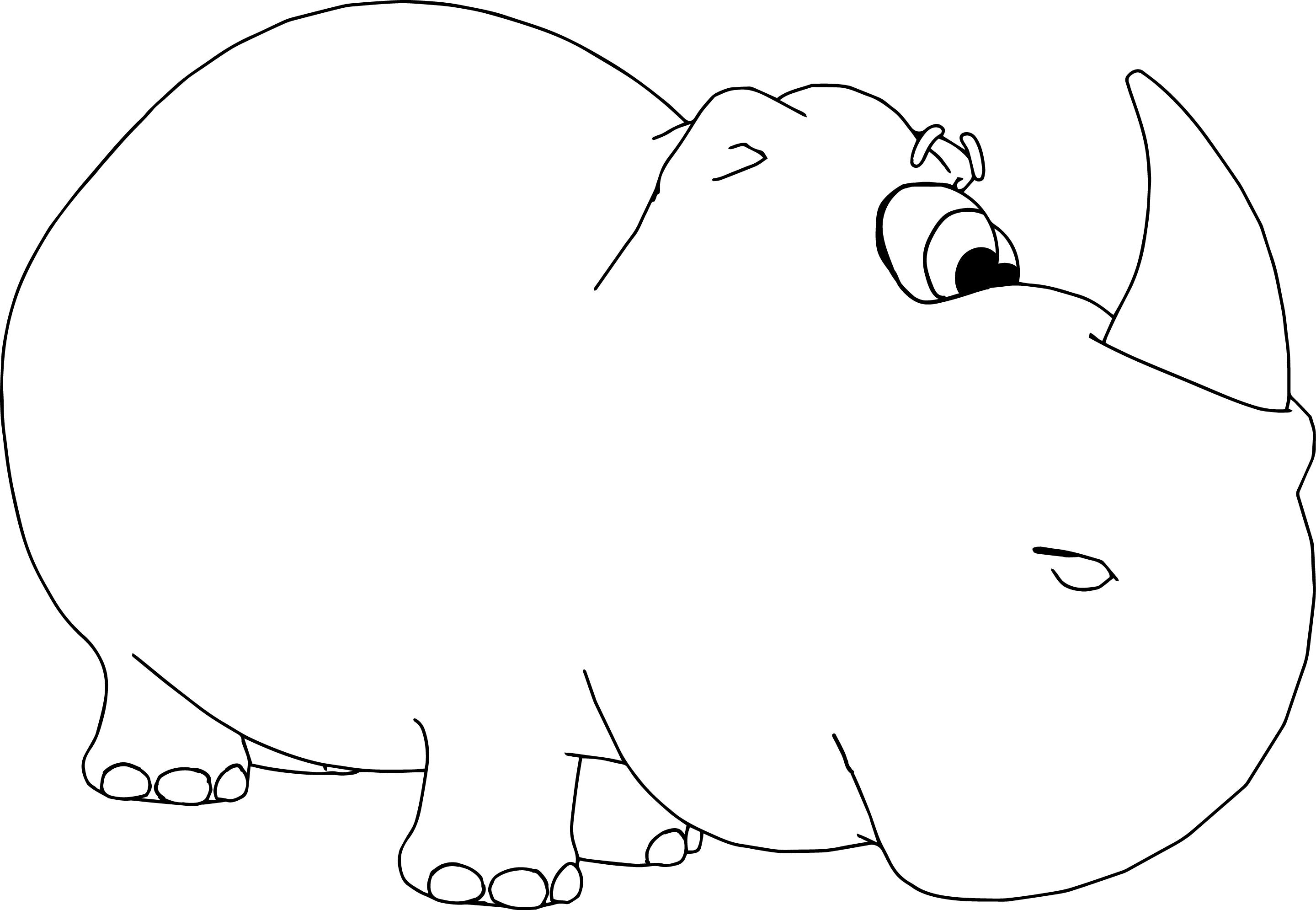 Rhinoceros Coloring Page Cartoon Free Download