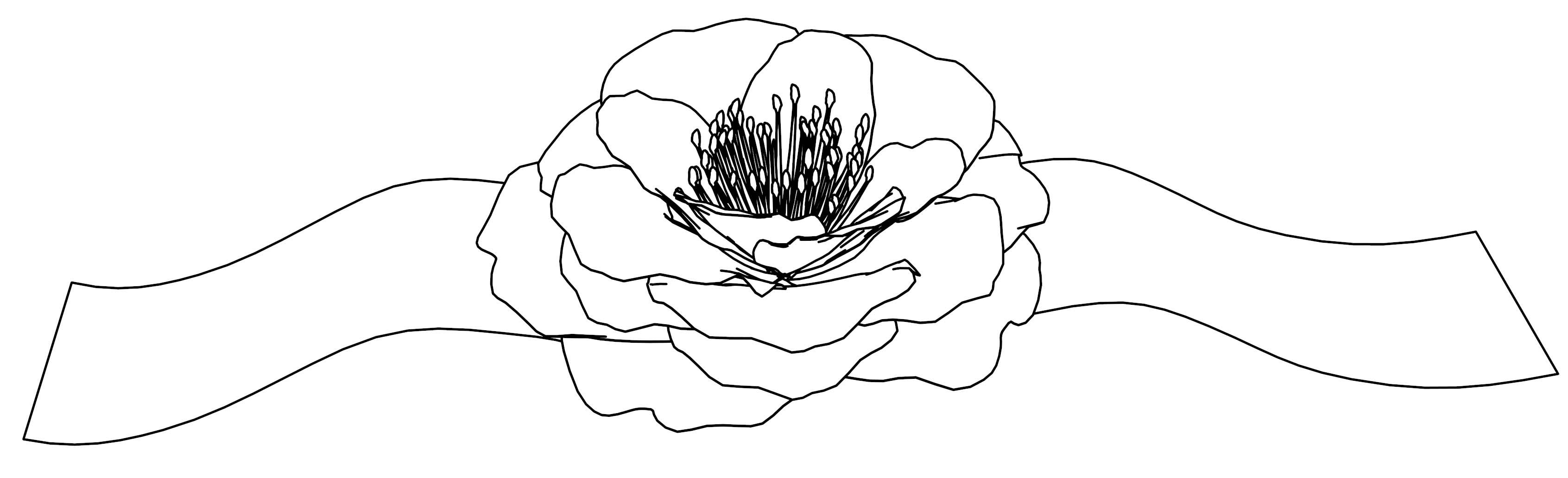 Ribbon Flower Jiang Coloring Page