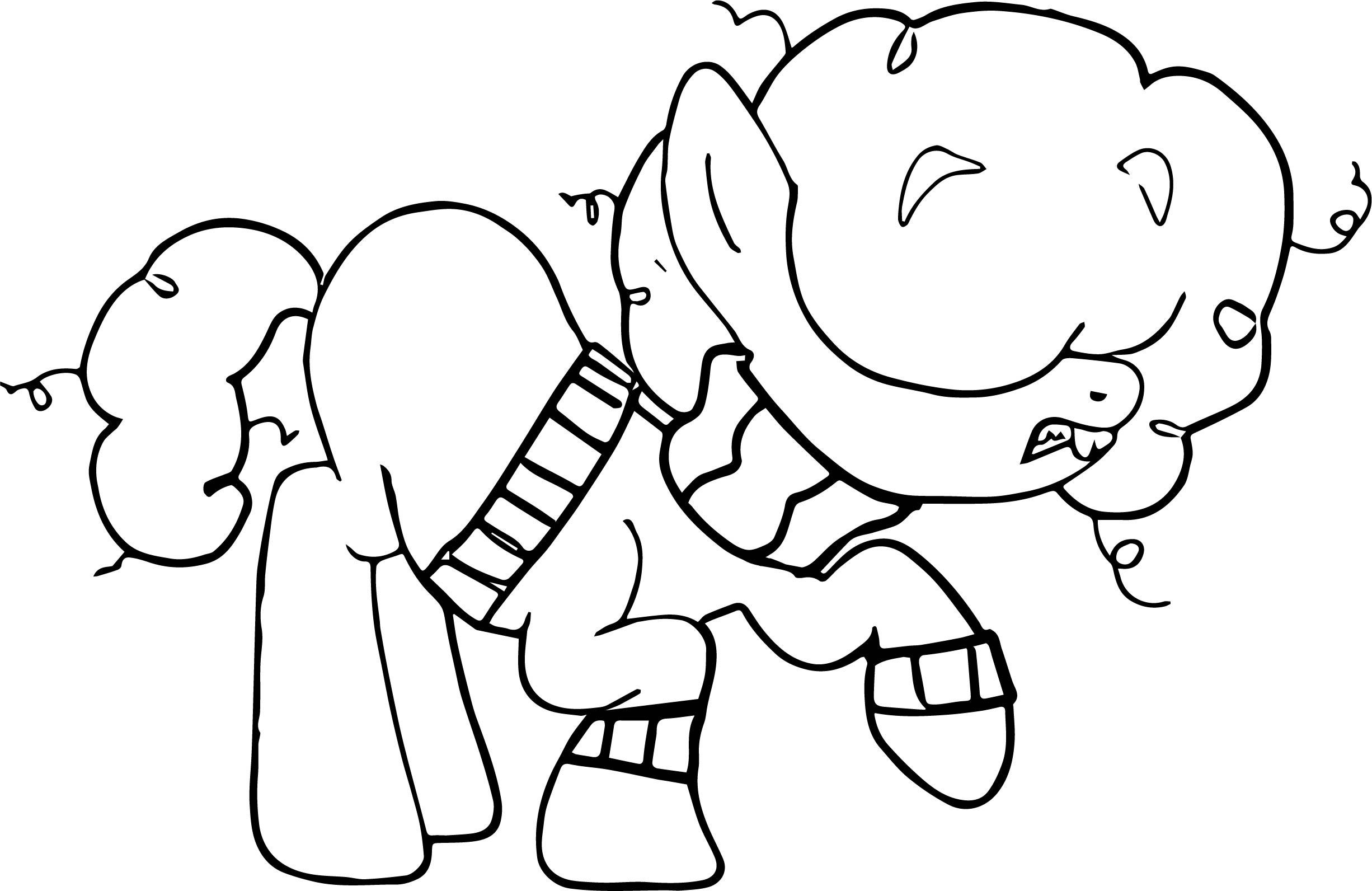 Roach As A Pony Rainbow Coloring Page | Wecoloringpage.com