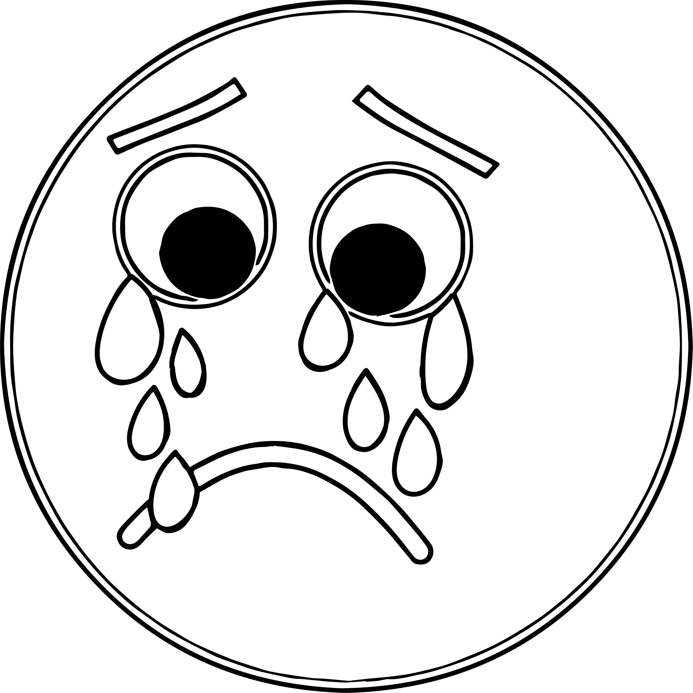 Sad Face Frowny Face S For You Cow Coloring Page | Wecoloringpage