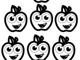 Seven Apple Coloring Pages