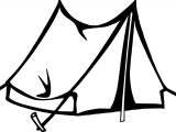 Simple Tent Camping Coloring Page