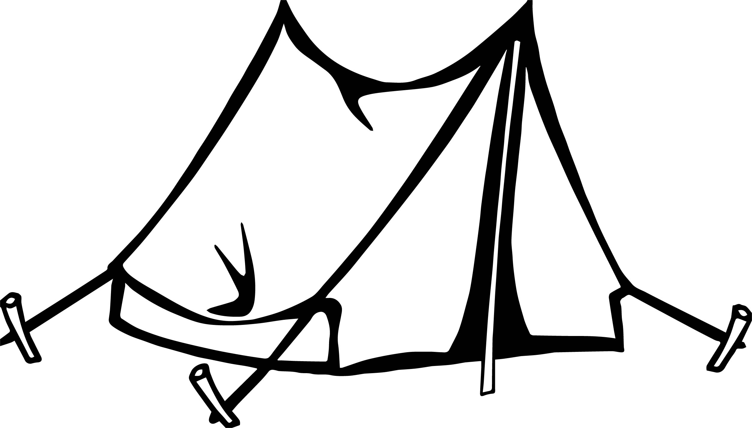 Simple Tent Camping Coloring Page Wecoloringpage Com