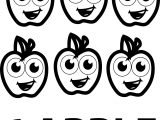 Six Apple Coloring Pages