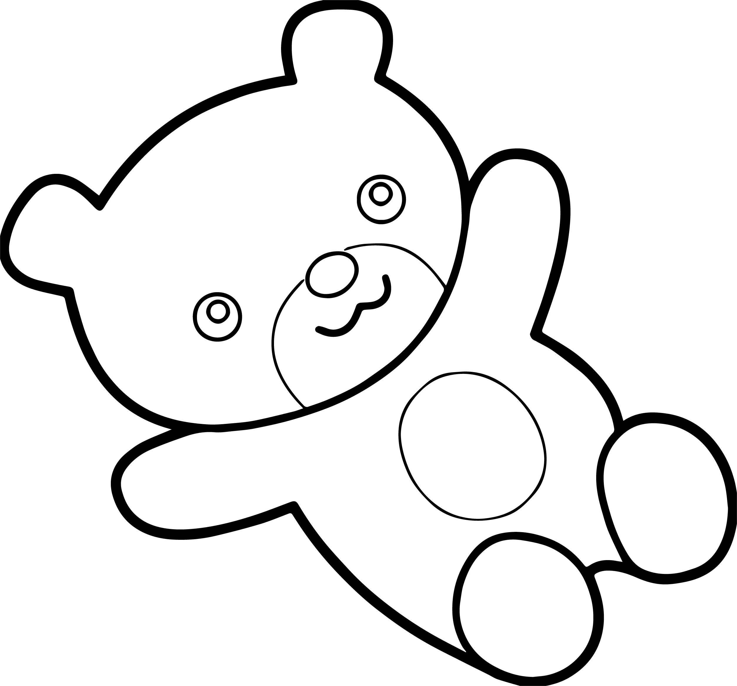 Sleep Bear Toy Coloring Page