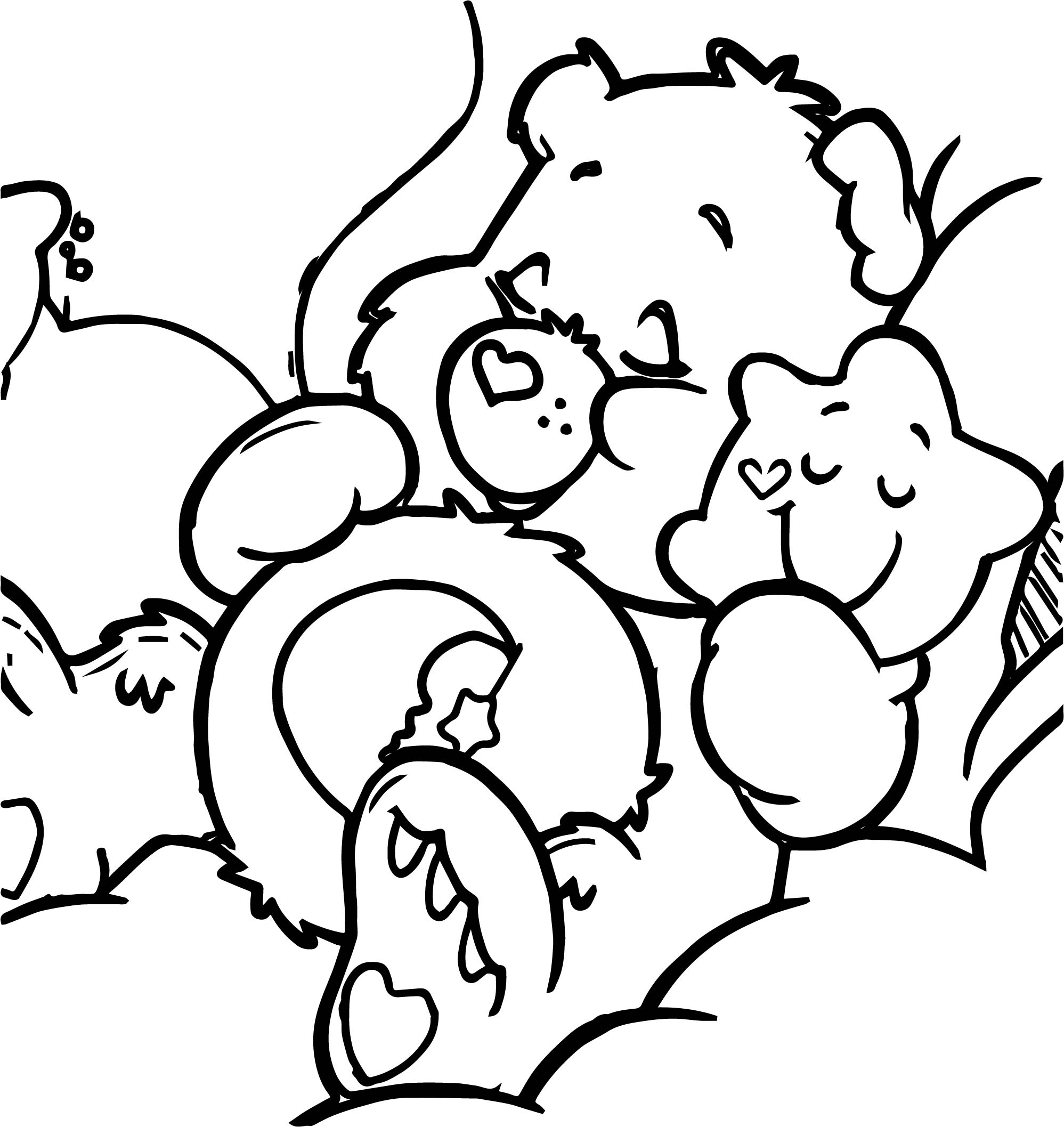 Sleeping Bear With Star Coloring Page
