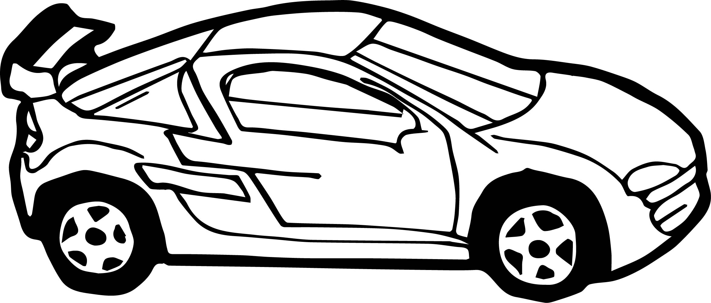 Small Car Side Coloring Page