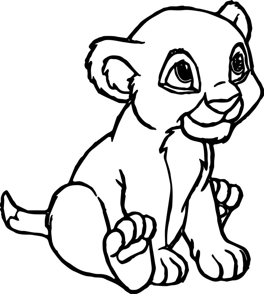 Small Cartoon Lion Coloring Page