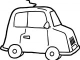 Small Cute Car Coloring Page