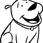Small Dog Clifford the Big Red Dog Coloring Page