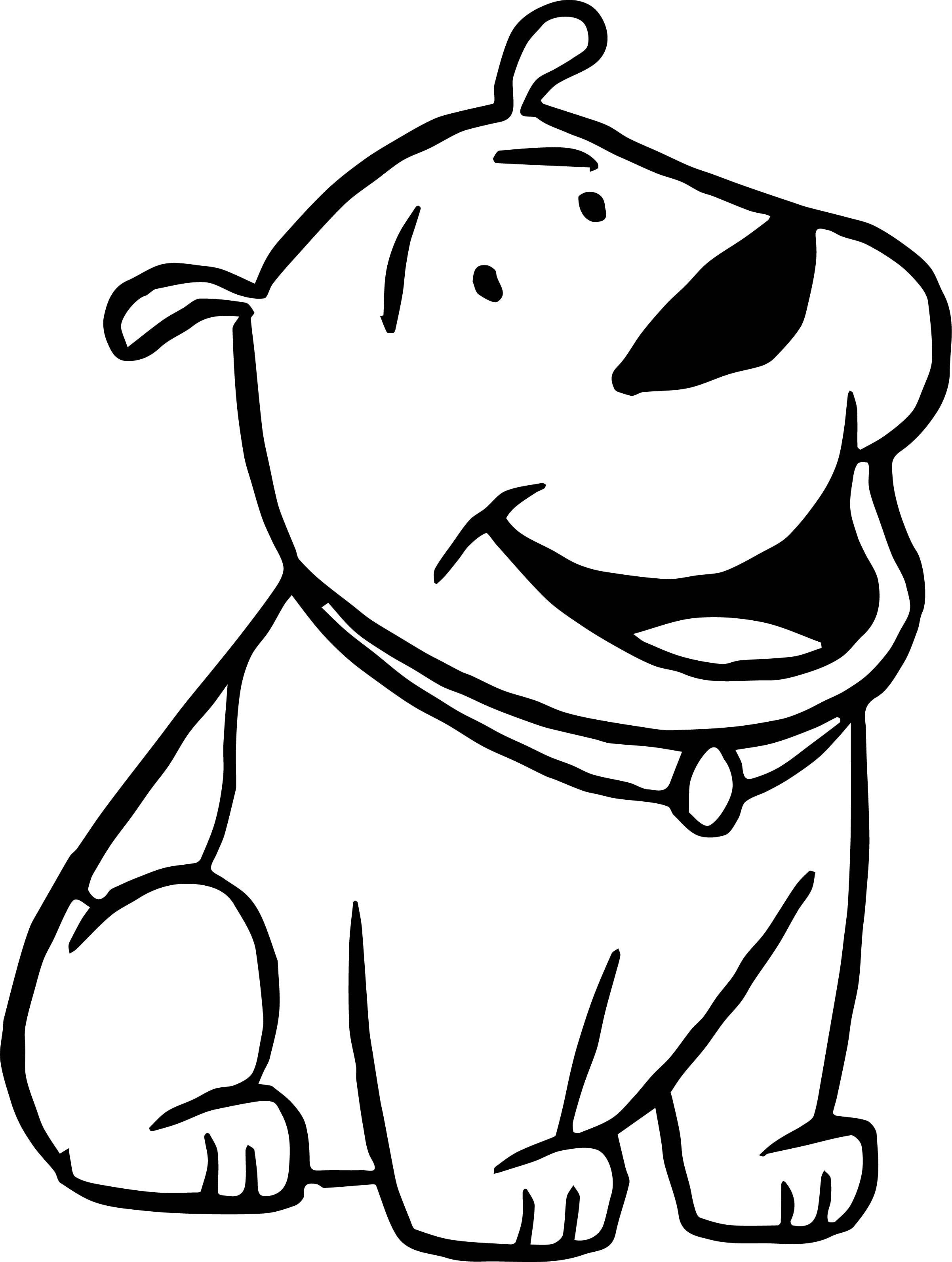 Small Dog Clifford The Big Red Dog Coloring Page | Wecoloringpage.com