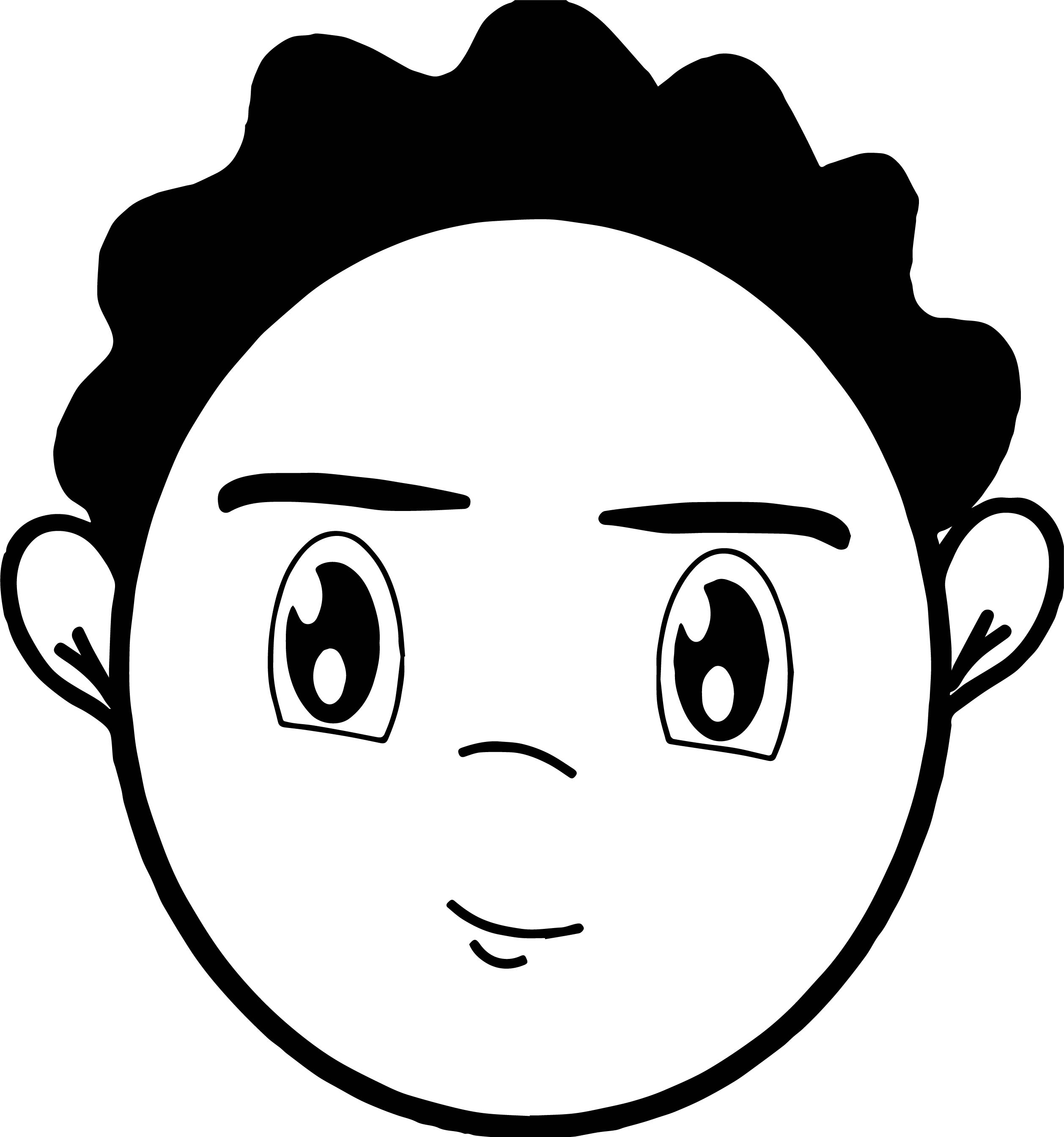 boy hair coloring pages - photo#31