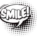 Smile Speech Bubble Coloring Page