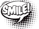 Smile Speech Bubble Coloring Page