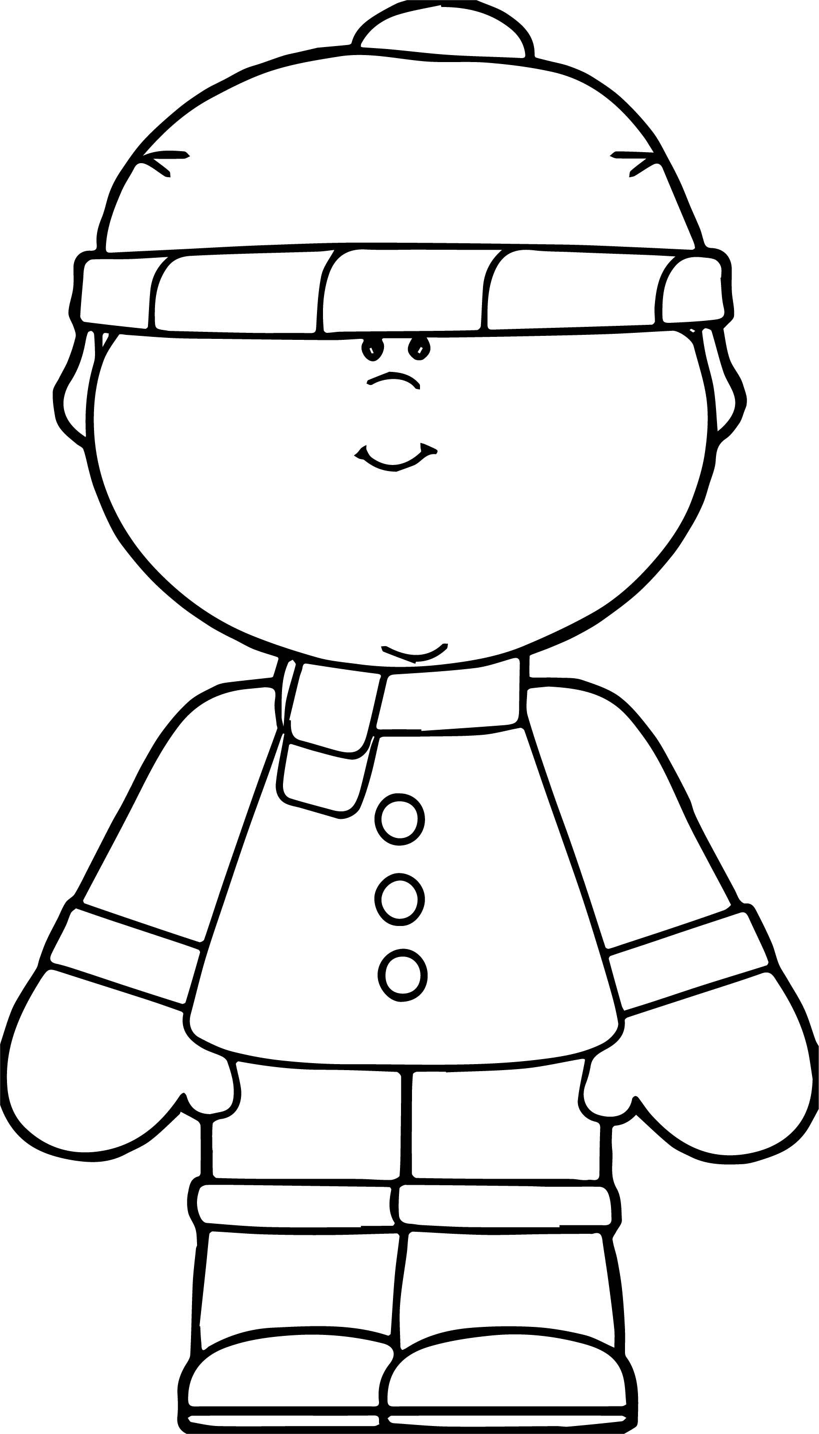 Snow Boy Coloring Page