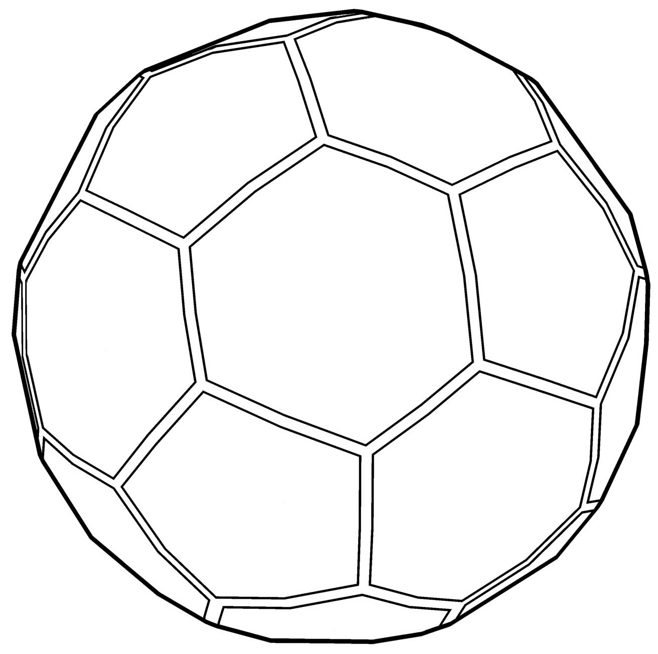 Soccer ball outline coloring page for Soccer balls coloring pages