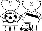 Soccer Boys Coloring Page