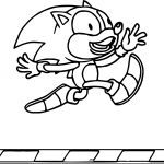 Sonic Derp Coloring Page