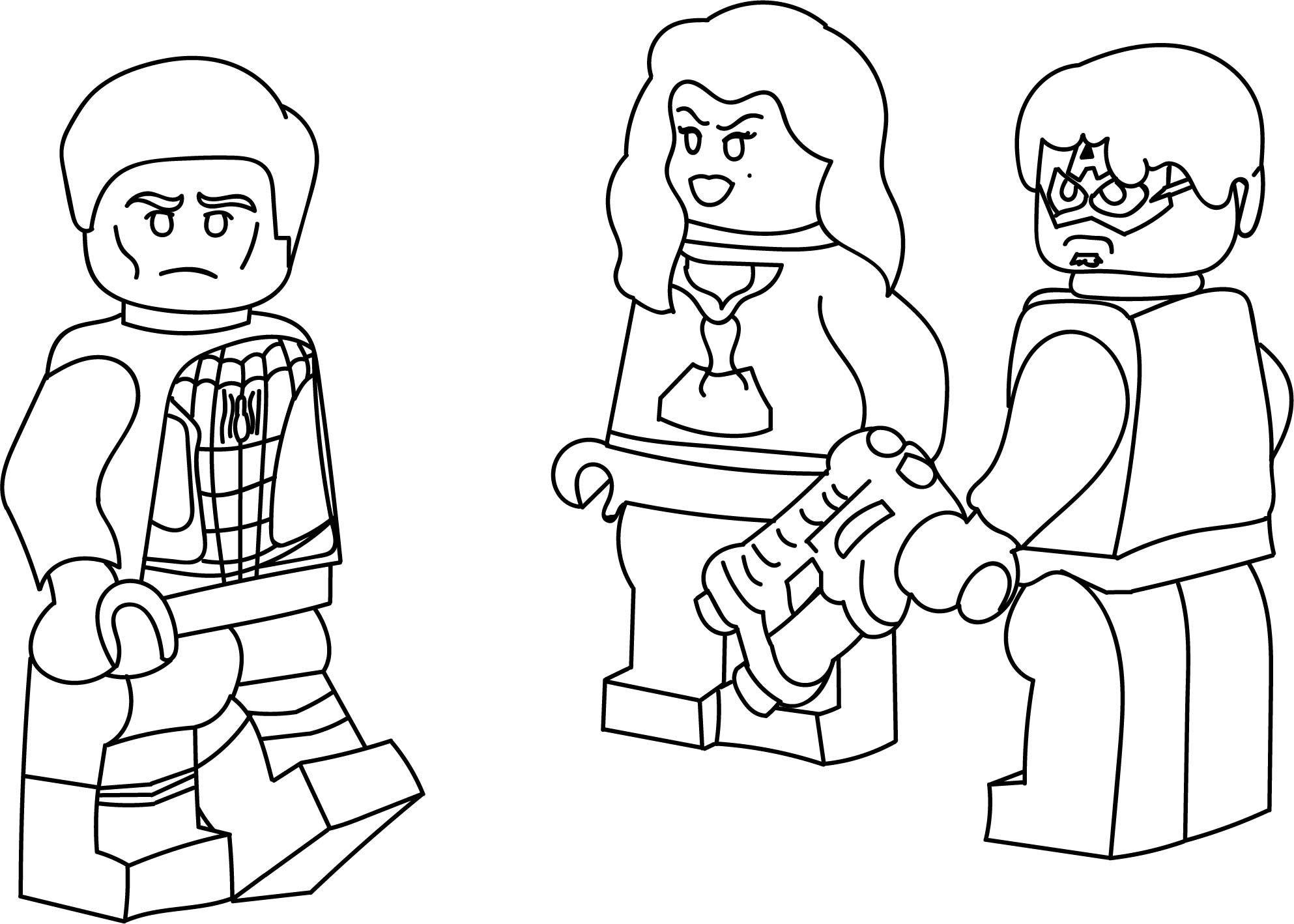 Spider Man Girl Bad Man People Coloring Page