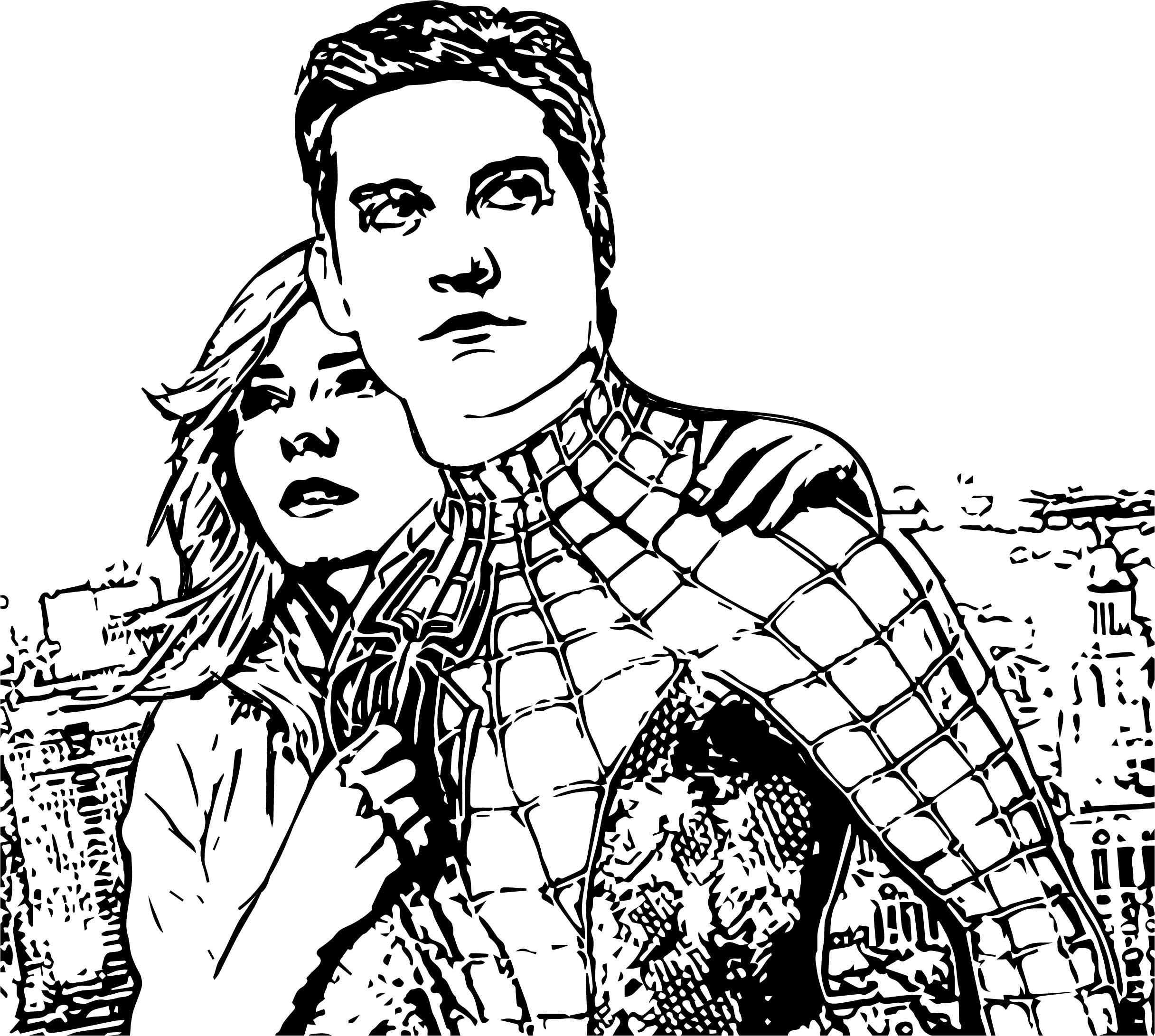 man coloring page - spider man in movie coloring page