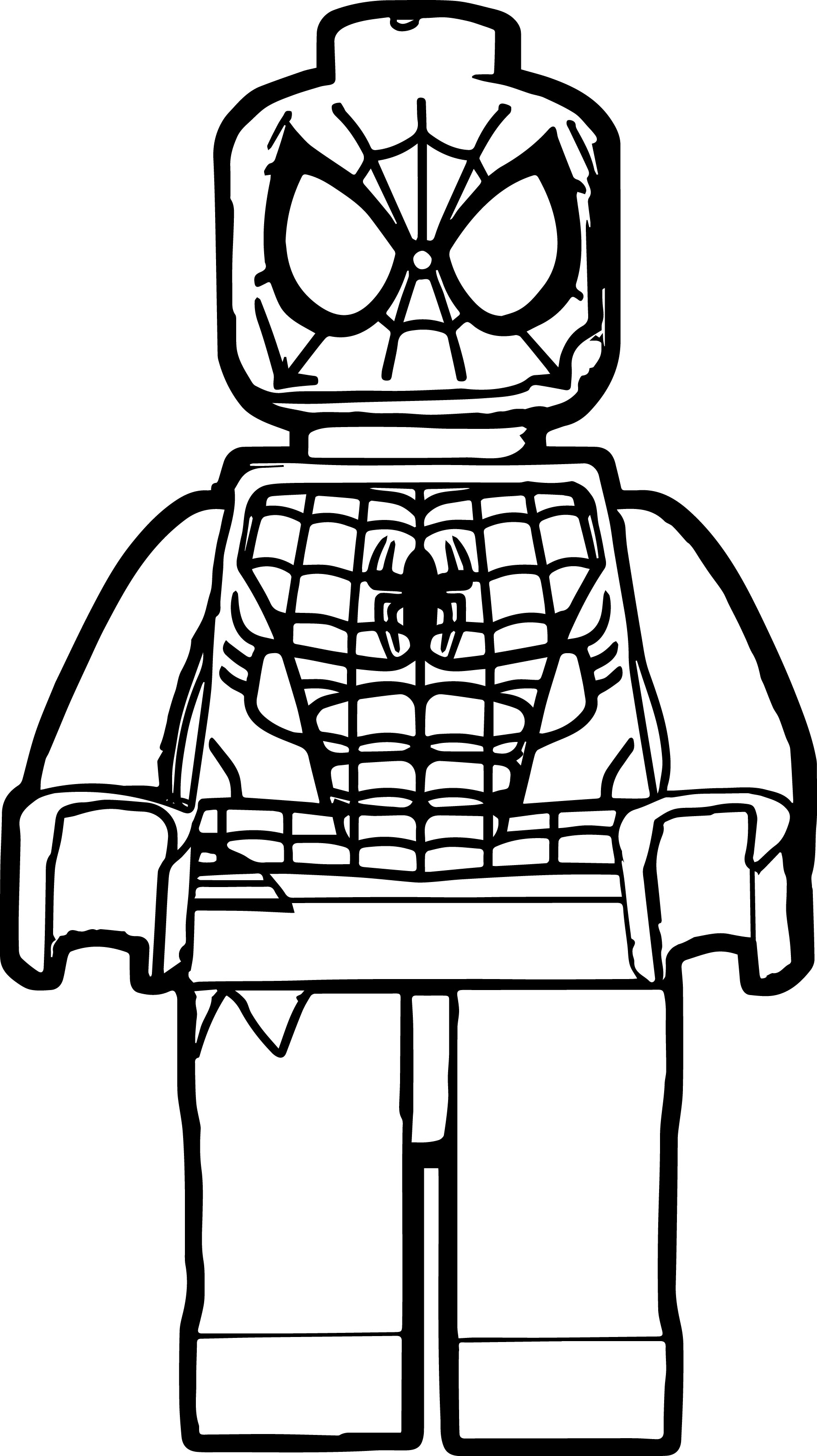 Spider Man Lego Coloring Page