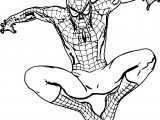 Spider Man On Wall Coloring Page